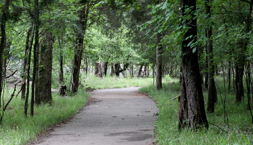 Walking At Long Hunter State Park In Tennessee