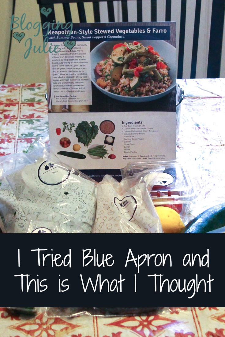 I Tried Blue Apron and This is What I Thought